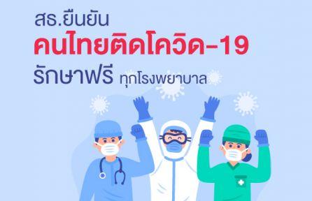 สธ.ยืนยันโควิด-19 ตรวจรักษาฟรี รพ.ทุกสังกัด เป็นสิทธิหลักประกันสุขภาพประชาชนทุกคน